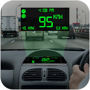 HUD View Digital Speedometer